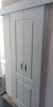 Раздвижная дверь полотно пополам